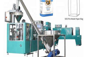 automatická linka na balenie papierových vreciek na múku