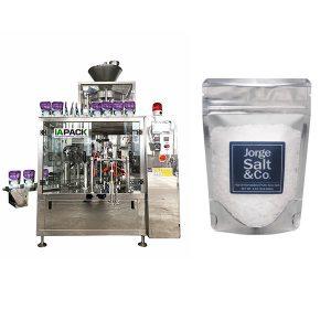 Automatické rotačné premade vrecia baliace stroje pre soľ
