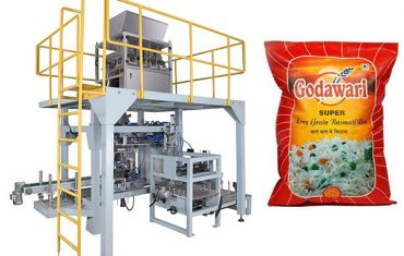 veľké vrece zrnité ťažké vrecia baliaci stroj na ryžu