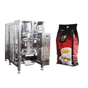 Kávový štvorkolky Form fill Fill Seal baliaci stroj