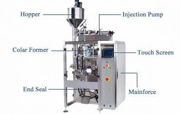 kvapalný vertikálny tvar plniaceho tesniaceho stroja s plniacim plnidlom