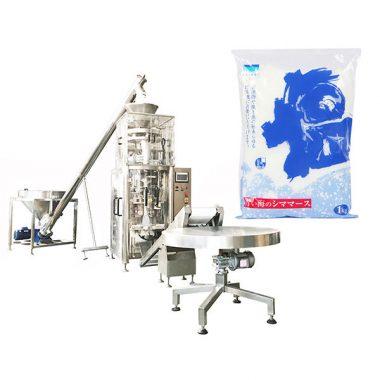 soľná vertikálna forma plniaca tesniaci stroj s volumetrickou miskou